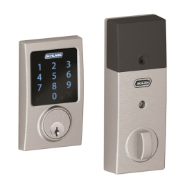 Schlage Connect Front Door Lock Silver