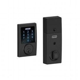 Schlage Connect Front Door Lock Black